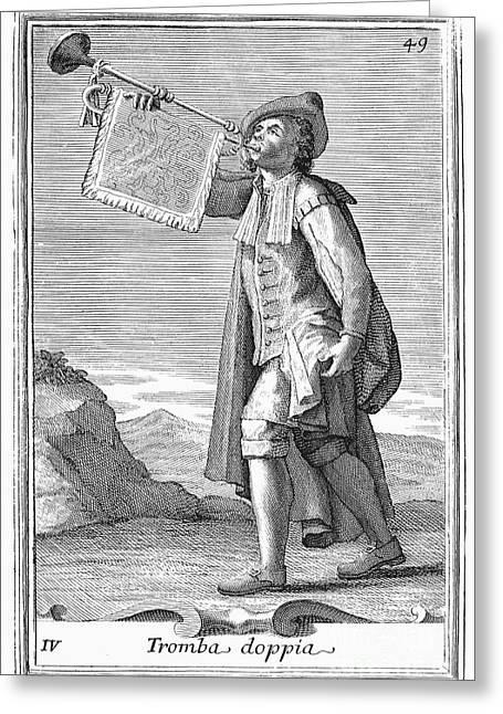 Trumpet, 1723 Greeting Card