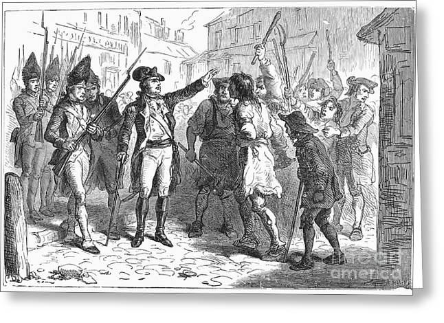 Tryon & Regulators, 1771 Greeting Card by Granger