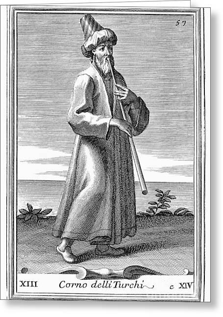 Turkish Trumpet, 1723 Greeting Card