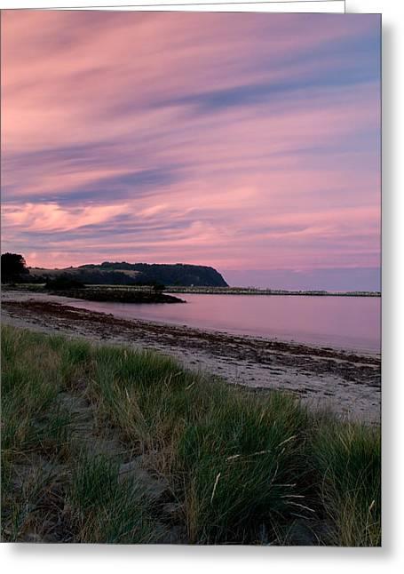 Twilight After A Sunset At A Beach Greeting Card by Ulrich Schade