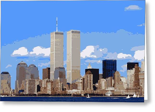 Twin Towers Color 16 Greeting Card by Scott Kelley