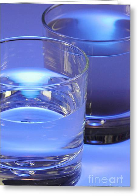 Two Glasses Of Water Greeting Card by Photo Researchers