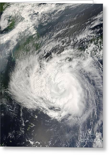 Typhoon Usagi Greeting Card by Nasa
