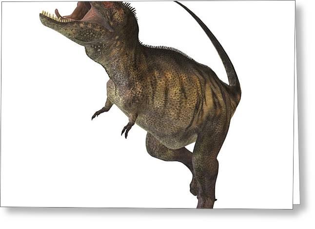 Tyrannosaurus Rex Greeting Card by Corey Ford