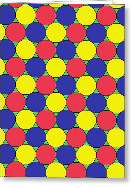 Uniform Tiling Pattern Greeting Card by