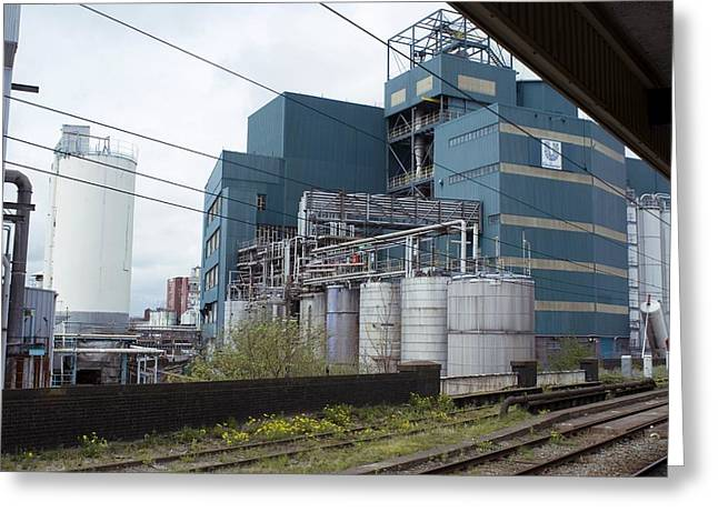 Unilever Industrial Plant, Uk Greeting Card by Mark Williamson