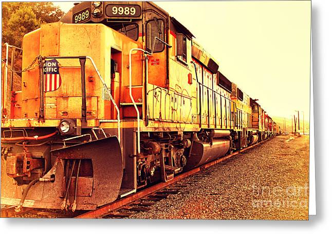 Union Pacific Locomotive Trains . 7d10588 Greeting Card by Wingsdomain Art and Photography