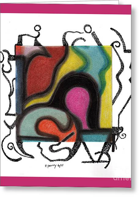 Untitled 5 Greeting Card by Christine Perry