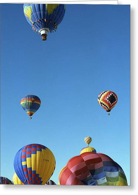 Up Up And Away Greeting Card by Les Walker