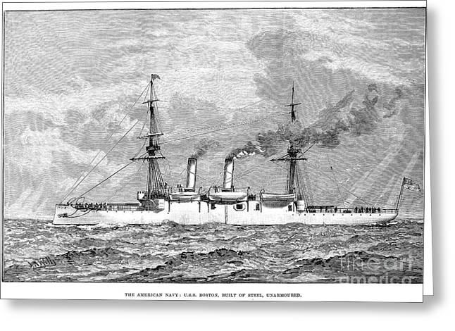 Uss Boston, 1890 Greeting Card by Granger