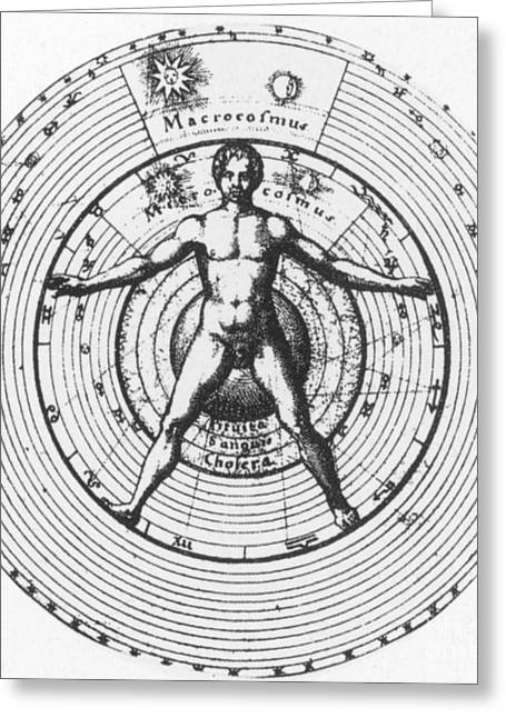 Utrisque Cosmi, Title Page, 1617 Greeting Card by Science Source