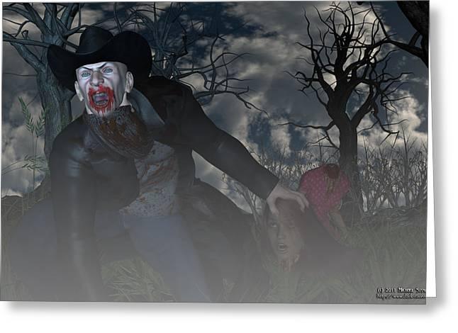 Vampire Cowboy Greeting Card