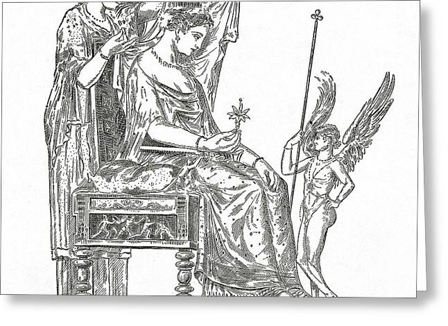Venus, Roman Goddess Of Love Greeting Card by Photo Researchers