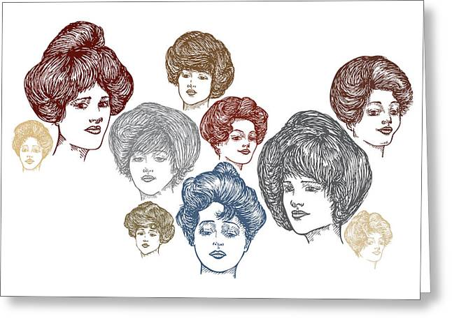 Very Pretty Lady Faces Greeting Card