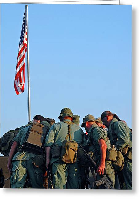 Veterans Remember Greeting Card by Carolyn Marshall