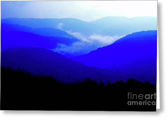 View From Highland Scenic Highway Greeting Card by Thomas R Fletcher