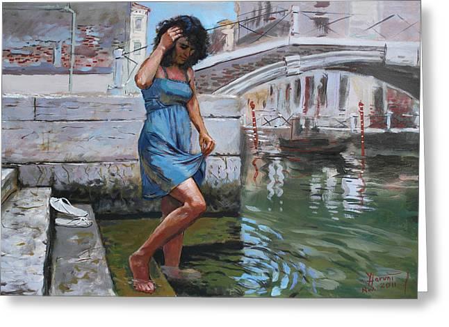 Viola In Venice Greeting Card by Ylli Haruni