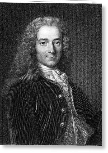 Voltaire, French Author Greeting Card by Middle Temple Library