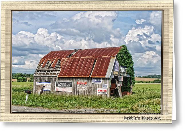 Greeting Card featuring the photograph Vote For Me I by Debbie Portwood