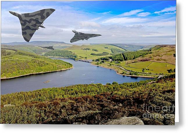 Vulcan Thunder In The Valley Greeting Card