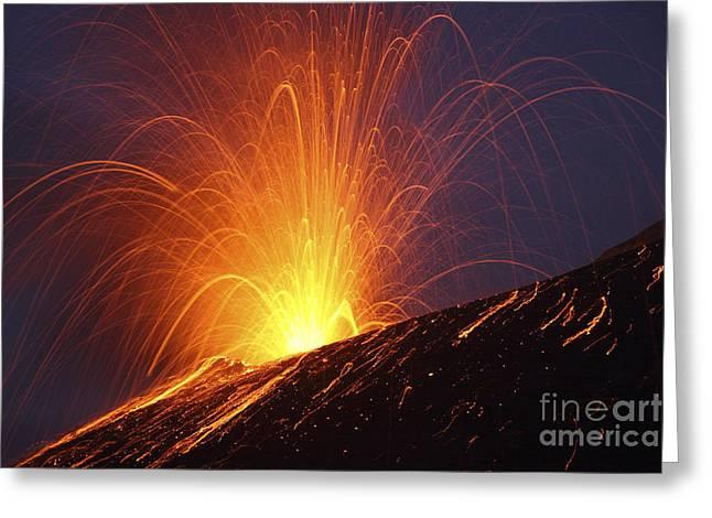 Vulcanian Eruption Of Anak Krakatau Greeting Card
