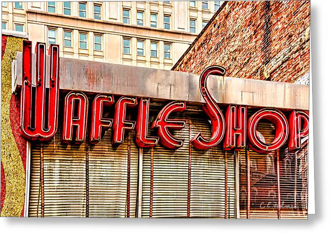 Waffle Shop Greeting Card by Christopher Holmes