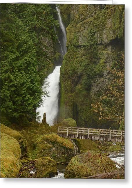 Wahclella Falls Greeting Card