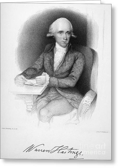 Warren Hastings (1732-1818) Greeting Card by Granger