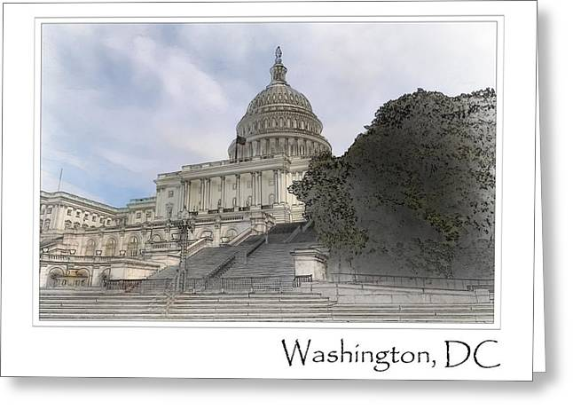 Washington Dc Capitol Hill Building Greeting Card