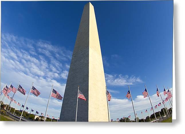 Washington Monument Greeting Card by Dustin K Ryan