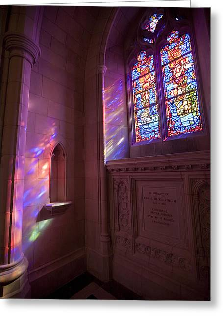 Washingtons National Cathedral Stained Greeting Card