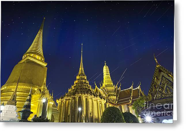 Wat Phra Kaew Greeting Card by Anek Suwannaphoom