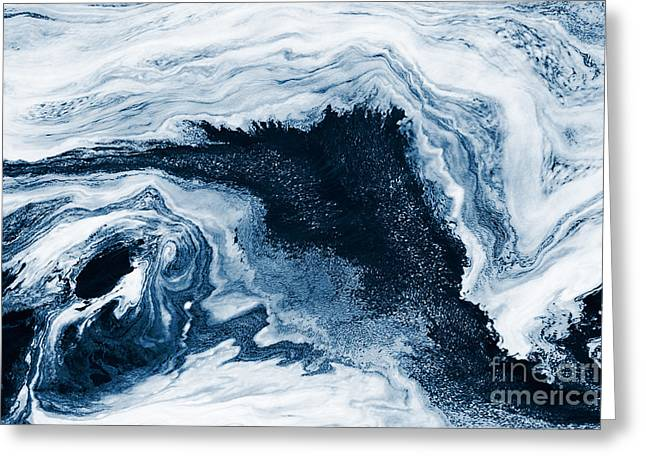 Water Abstraction Greeting Card by Iryna Shpulak