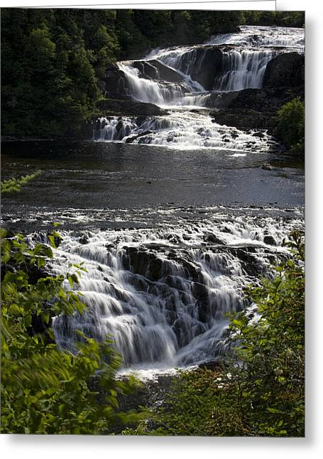 Water Rushes Down Bakers Brook Falls Greeting Card