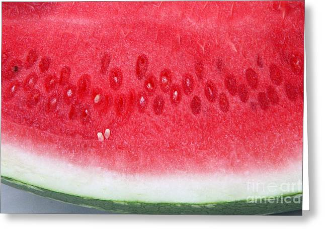 Watermelon Greeting Card by Photo Researchers, Inc.