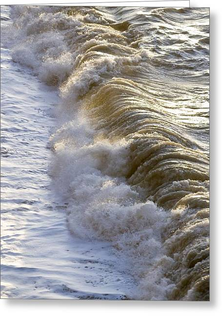 Wave Breaking Greeting Card by Adrian Bicker