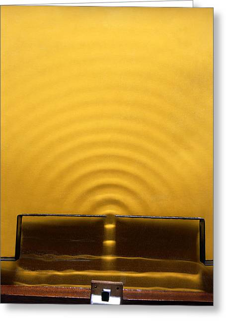 Wave Diffraction Experiment Greeting Card