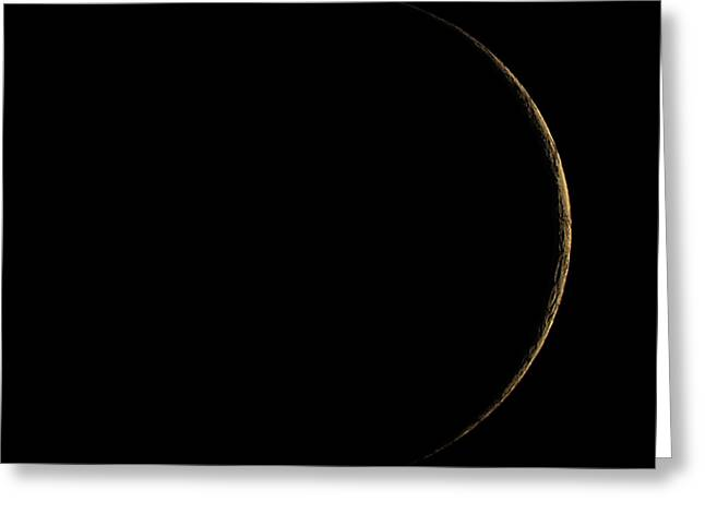 Waxing Crescent Moon Greeting Card by Eckhard Slawik