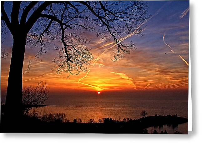 Welcome A New Day Greeting Card by Theo Tan