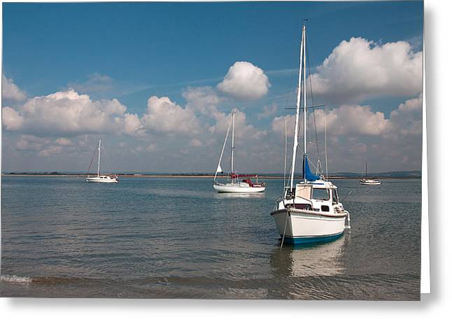 West Wittering Greeting Card by Shirley Mitchell