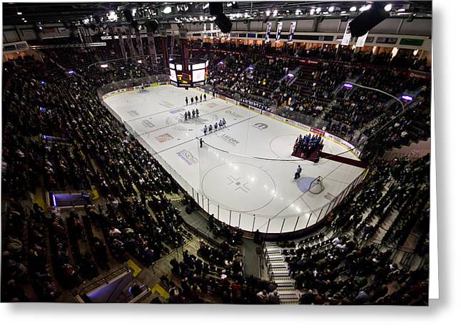 Wfcu Centre Greeting Card by Cale Best