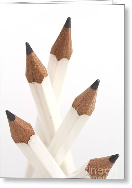 White Pencils Greeting Card by Blink Images