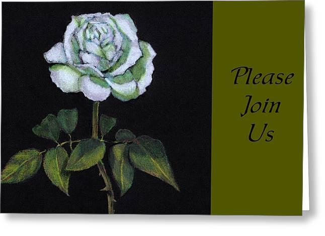 White Rose Invitation Card Greeting Card by Joyce Geleynse