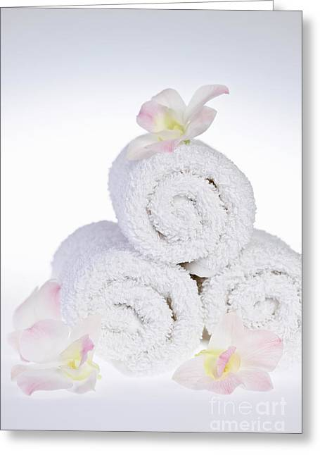 White Spa Greeting Card