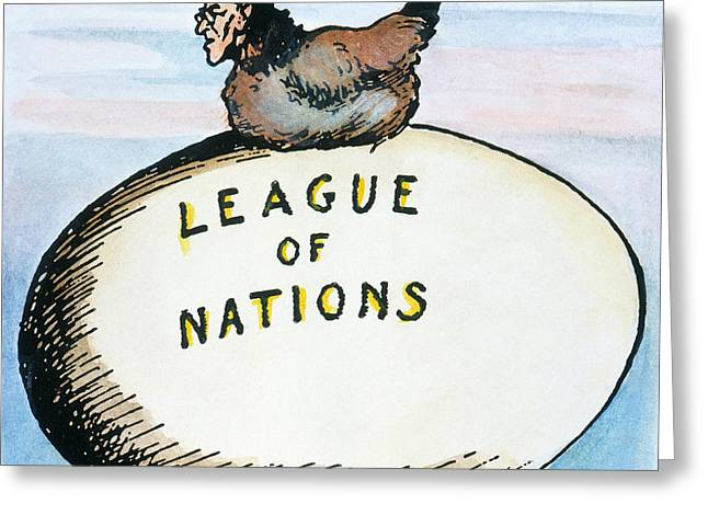 Wilson: League Of Nations Greeting Card by Granger