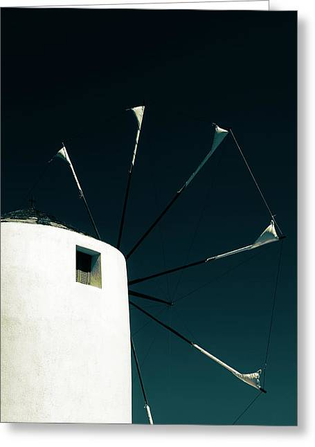 Windmill Greeting Card by Joana Kruse