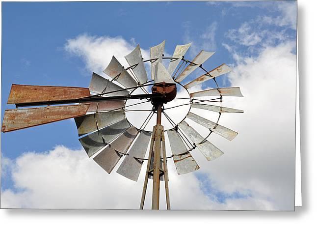 Windmill Greeting Card by Teresa Blanton
