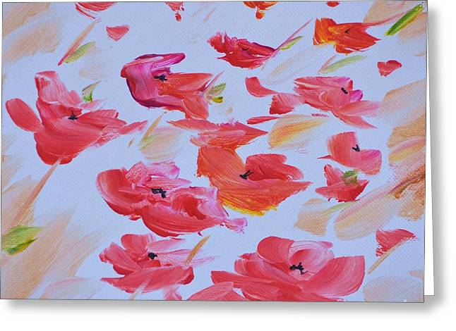 Windy Poppies No. 1 Greeting Card