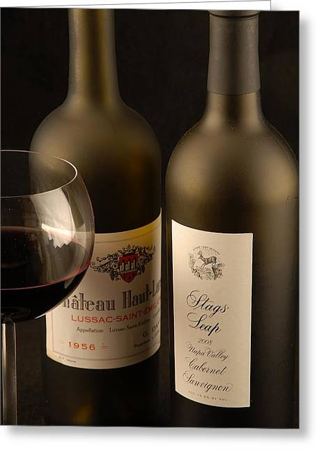 Wine Labels Greeting Card