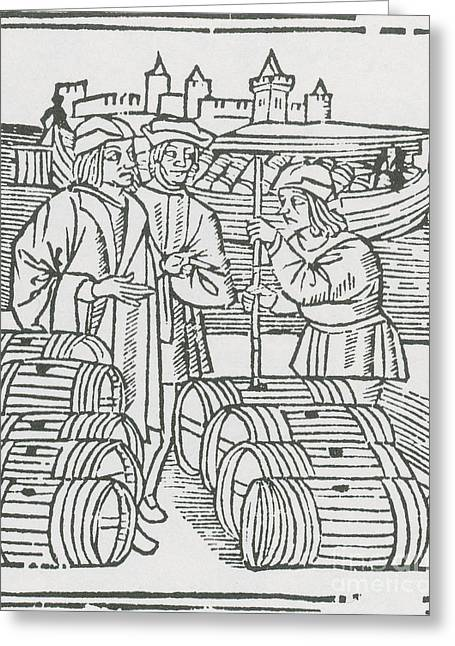 Wine Merchant, Medieval Tradesmen Greeting Card